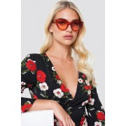 NA-KD Trend Cat Eye Sunglasses - Solglasögon - Red