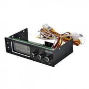 Controlador de ventilador akasa fc.trio 3-CH con monitor de temperatura? alarma - negro