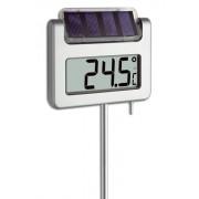 Соларен цифров градински термометър