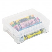 Super Stacker Crayon Box, Clear, 3 1/2 X 4 4/5 X 1 3/5