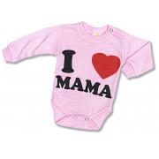 Detské body - I love Mama, ružové veľkosť: 98