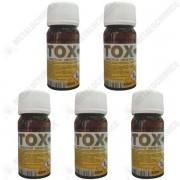 Pachet 5 bucati - Sanitox 40ml, Insecticid ( echivalent regent ) otrava pentru gandaci, plosnite, purici, muste, tantari, molii, omizi, 5 x 40ml