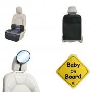 A3 Baby & Kids 4 Piece Baby Car Accessories Set Black