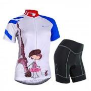 NUCKILY pantalones Girl patron de ciclo linda de manga corta Jersey + Short