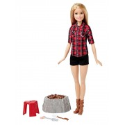 Papusa Barbie Blonda - Foc de tabara