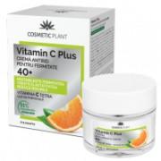 Crema antirid pentru fermitate 40 + vit c 50ml VITAMIN C PLUS