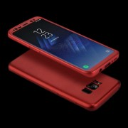 For Samsung Galaxy S8 Full Coverage TPU Protective Back Cover Soft Case (Red)