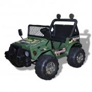 vidaXL Gyerek Autó Elektromos kisautó Motor Két Katona zöld