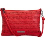 Caprese Women Casual Red Leatherette Sling Bag
