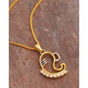 Dare by Voylla Spiritual Saga Dual Plated Lord Ganesha Pendant With Chain