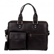 Burkely Laptoptas Burkely Quinn Vintage Business Shoulderbag Black 14 inch