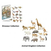 Top Race 3D Puzzle, 3 Pack of Dinosaur and Animal Set Puzzles, No Glue, Scissors, Easy to Assemble. Puzzles