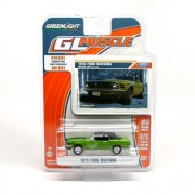 1970 FORD MUSTANG (GREEN) * GL MUSCLE SERIES 7 * 2014 Greenlight CollectibleS 1:64 Scale Die-Cast Vehicle & Trading Card