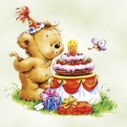 Lunchservet 33x33 pakje 20 st., Birthday Bear