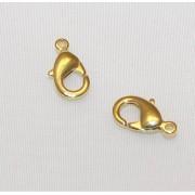 Incuietori 12 mm Placate cu Aur 18 Kt