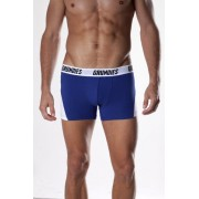 Grundies Active Boxer Brief Underwear Blue/White