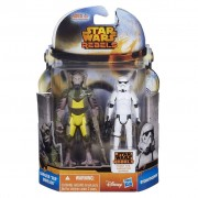 "MS01 Figurine Star Wars Mission Series Figure Set (Garazeb ""Zeb"" Orrelios and Stormtrooper)"