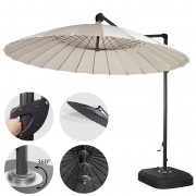 Ampelschirm MCW-A34, Sonnenschirm mit Ständer/Schutzhülle, drehbar rollbar Ø 2,8m Polyester Alu/Stahl 25kg ~ Variantenangebot