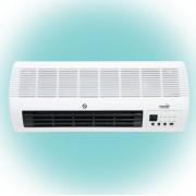 HOME elektromos, fali, ventilátoros fűtőtest, fehér színben, max 2000 W teljesítménnyel, elektronikus termosztáttal, IP20 védelemmel, programozható (heti) HOME (FKF 45201)