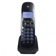 Telefone Sem Fio Com Identificador de Chamada, Secretária Digital e Viva Voz MOTO750SE Preto - Motorola