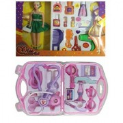 Miss World Doll With Make-up Set with doctor Set