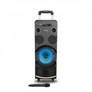 Boxa portabila AKAI ABTS-1002 , microfon wireless-Karaoke , BT/USB/SD/AUX/FM Radio, Telecomanda , Baterie reincarcabila