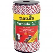 Patura tornado xl kunststofdraad wit/rood 1000m