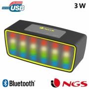 Coluna Bluetooth LED Roller Glow NGS Preto