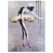 Ölgemälde Ballett, 100% handgemaltes Wandbild Gemälde XL, 120x85cm ~ Variantenangebot