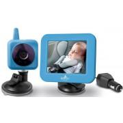 "Monitor video digital bebelusi pentru acasa si masina Bayby BBM 7030, Raza de actiune 250 m, Ecran LCD 3,5"", 2.14 GHs (Albastru)"