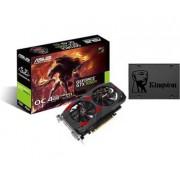 GeForce GTX1050TI CERBERUS OC 4GB + Kingston SSDNow A400 120GB