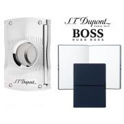 Set Maxijet Cigar Cutter S.T. Dupont si Note Pad Blue Hugo Boss