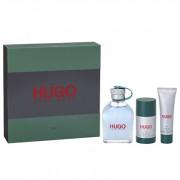 Hugo Boss - Hugo edt 125ml + tusfürdő 50ml + deo stift 75ml (férfi parfüm szett)