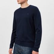 Michael Kors Men's Cotton Crew Neck Knitted Jumper - Midnight - XL - Blue