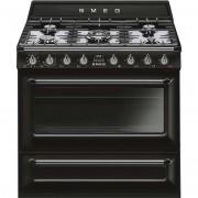 SMEG Tr90bl9 Cucina 90x60 5 Fuochi A Gas Forno Termoventilato 115 Litri Classe A