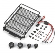 EW AX-513B Metal Roof rack de equipaje Barra de luces LED para 1/10 Rock Crawler RC coche