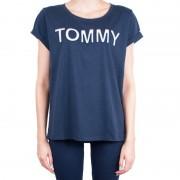 Tommy Hilfiger Dámské tričko Tommy Hilfiger tmavě modré (UW0UW00401 416) XL
