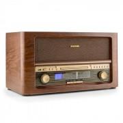 Auna Belle Epoque 1906 Retro-Stereoanlage CD USB MP3 AUX UKW/MW