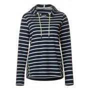 cecil Hoodie-shirt met strepen - deep blue