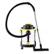Прахосмукачка за сухо и мокро почистване Royalty Line RL-WDVC25, 25 литра, 1400W Max, Функция издухване, Сребрист