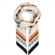 Шал TORY BURCH - Bon Voyage Silk Square 70389 Tory Navy 405