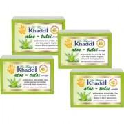 Khadi Aloe Vera Tulsi Glycerin Soap (Premium Brand) By Dr. Thapar Buy 3 Get 4 (125 Grams Each )