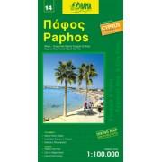 Fietskaart - Wegenkaart - landkaart 14 Paphos Cyprus | Orama