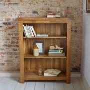 Oak Furnitureland Rustic Solid Oak Bookcases - Small Bookcase - Original Rustic Range - Oak Furnitureland
