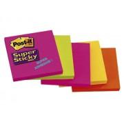 NOTES AUTOADEZIV POST-IT SUPER STICKY 76X76 mm, 5 culori neon/set