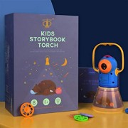 Story Projection Torch with Night Light, Kids Sleep Stories, Flashlight Luminous Toy, Animal Slide Show, 8 Fairy Tales Movies 64 Slides Great Educational Handed Toy Gift for Toddler, Boys and Girls