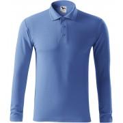 ADLER Pique Polo LS Pánská polokošile 22114 azurově modrá S
