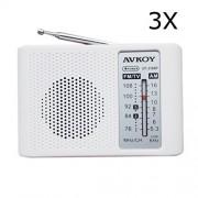 HITSAN 3Pcs DIY Portable AM FM Radio Kit 76-108MHZ 525-1605KHZ For Electronic Teaching Learning One Piece