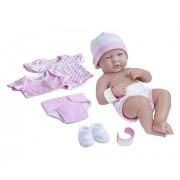 JC Toys Nursery Layette Baby Doll Gift Set (Pink) - 8 Piece