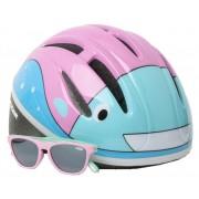 Lazer kinderhelm Blub met zonnebril junior 46 52 cm roze/blauw